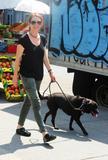 Джулианн Мур, фото 9. Julianne Moore walks her black doggy in New York, photo 9